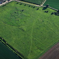 Bardney Abbey Lincolnshire from the air