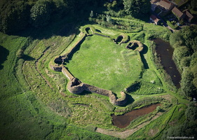 Bolingbroke Castle from the air