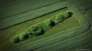 Bully Hills Bronze Age Round Barrow Cemetery in Tathwell, Lincolnshire aerial photo