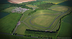 Cadwell Park race circuit  from the air