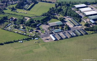 RAF East Kirkby disused from the air