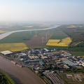 Flixborough Lincolnshire UK   aerial photograph