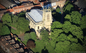All Saints Church, Gainsborough from the air