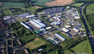 Corringham Road Industrial estate Miller Rd Gainsborough  from the air