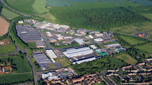Corringham Road   Industrial Estate, Gainsborough Lincolnshire   from the air