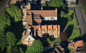 Gainsborough Old Hall Lincolnshire from the air