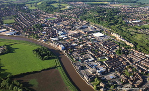 Gainsborough Lincolnshire from the air