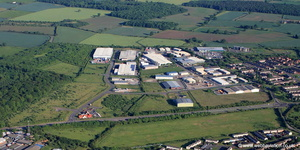 Heapham Road Industrial Estate, Gainsborough Lincolnshire   from the air