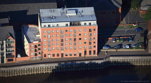 Whitton's Mill  Granary Wharf,  Gainsborough from the air