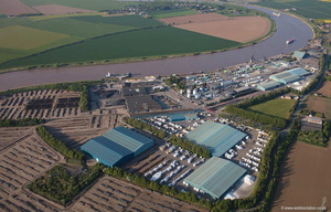 aerial photograph of Grove Wharf & neap House Wharf Lincolnshire UK   aerial photograph