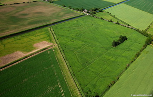 deserted medieval village ( DMV ) adjacent  New River Gate   Holbeach Drove Lincolnshire aerial photograph