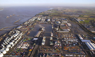 Immingham , Lincolnshire from the air
