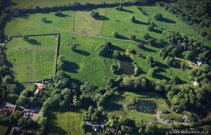 Legbourne Priory  Lincolnshire  from the air