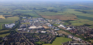 Fairfield Industrial Estate  Louth Lincolnshire from the air