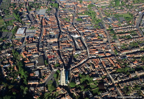 Louth Lincolnshire from the air