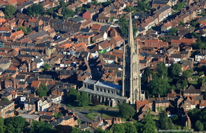 St. James Church, Louth Lincolnshire from the air
