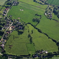 site of Minting Benedictine Priory Lincolnshire from the air