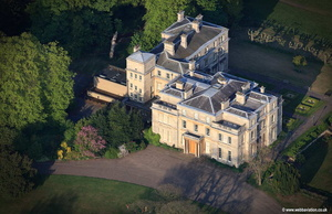 Normanby Hall near Scunthorpe  Lincolnshire aerial photograph