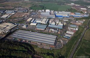 Foxhills Industrial Park Scunthorpe South Humberside aerial photograph