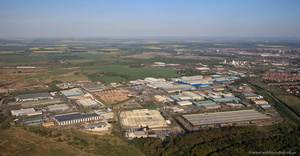 Foxhills Industrial Park Scunthorpe South Humberside from the air