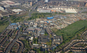 Midland Road Industrial Estate, Scunthorpe, DN16 from the air