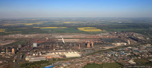 Scunthorpe Steelworks from the air