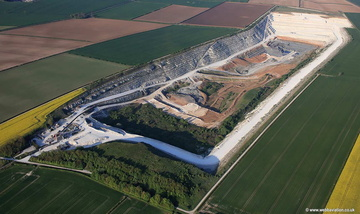 Middlegate Lane Quarry South Ferriby aerial photograph
