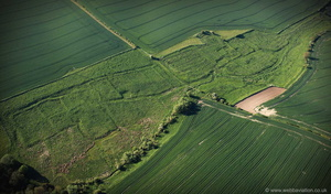 South Cadeby  deserted medieval villages (DMV) Lincolnshire from the air