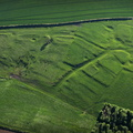 West Wykeham deserted medieval villages (DMV) Lincolnshire   from the air