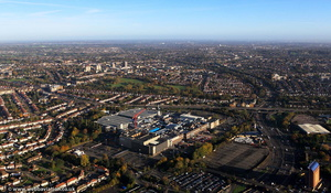 Brent Cross Shopping Centre  London  aerial photo