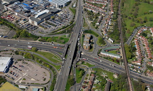 Brent Cross Flyover from the air