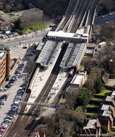 East Finchley tube station  London  aerial photo