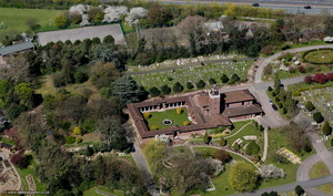 East Finchley crematorium  London  aerial photo