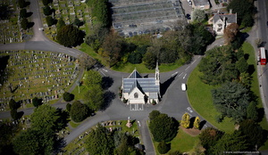East Finchley Cemetery Anglican  Chapel, London  aerial photo