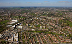 Friern Barnet London England UK aerial photograph