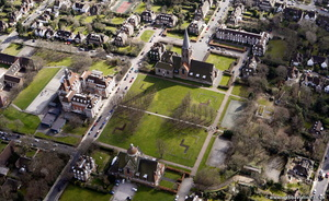 Hampstead Garden Suburb London  aerial photo