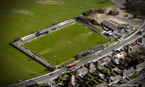 Hendon FC football ground on  Claremont Road  Cricklewood, London  aerial photo