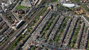 Dollis Hill  Brent London England UK aerial photograph