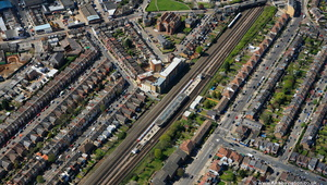 Dollis Hill  Tube Station Brent London England UK aerial photograph