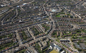 Harlesden  Brent London England UK aerial photograph