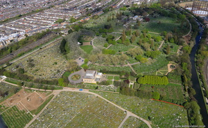 Kensal Green ccemetery   Brent London England UK aerial photograph