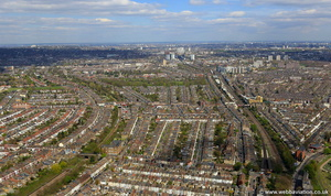 Kensal Green Brent London England UK aerial photograph