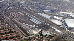 Neasden railway works / depot  Brent London England UK aerial photograph