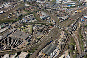 Willesden Junction  Brent London England UK aerial photograph
