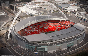Wembley Stadium  Brent London England UK aerial photograph