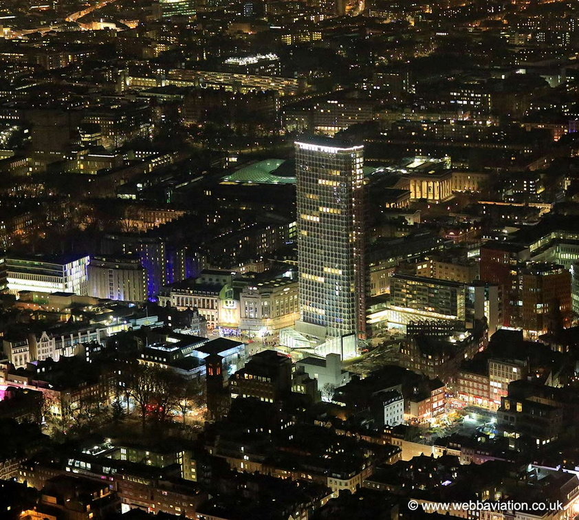 Centre Point London from the air
