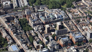 Great Ormond Street Hospital London from the air