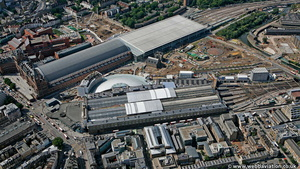 Kings Cross  railway station from the air