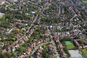West Hampstead from the air