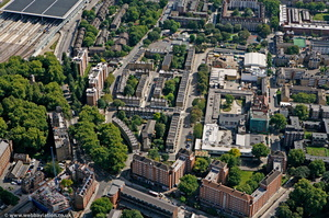 Somers Town, London from the air